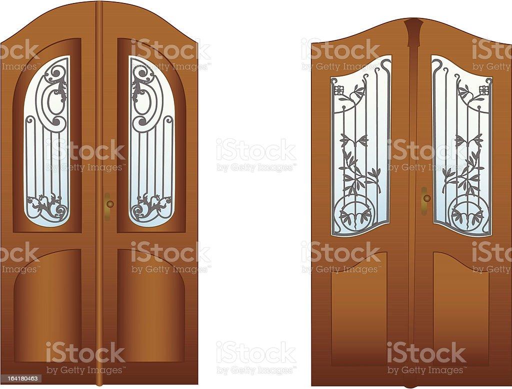 Doors - 1 royalty-free stock vector art