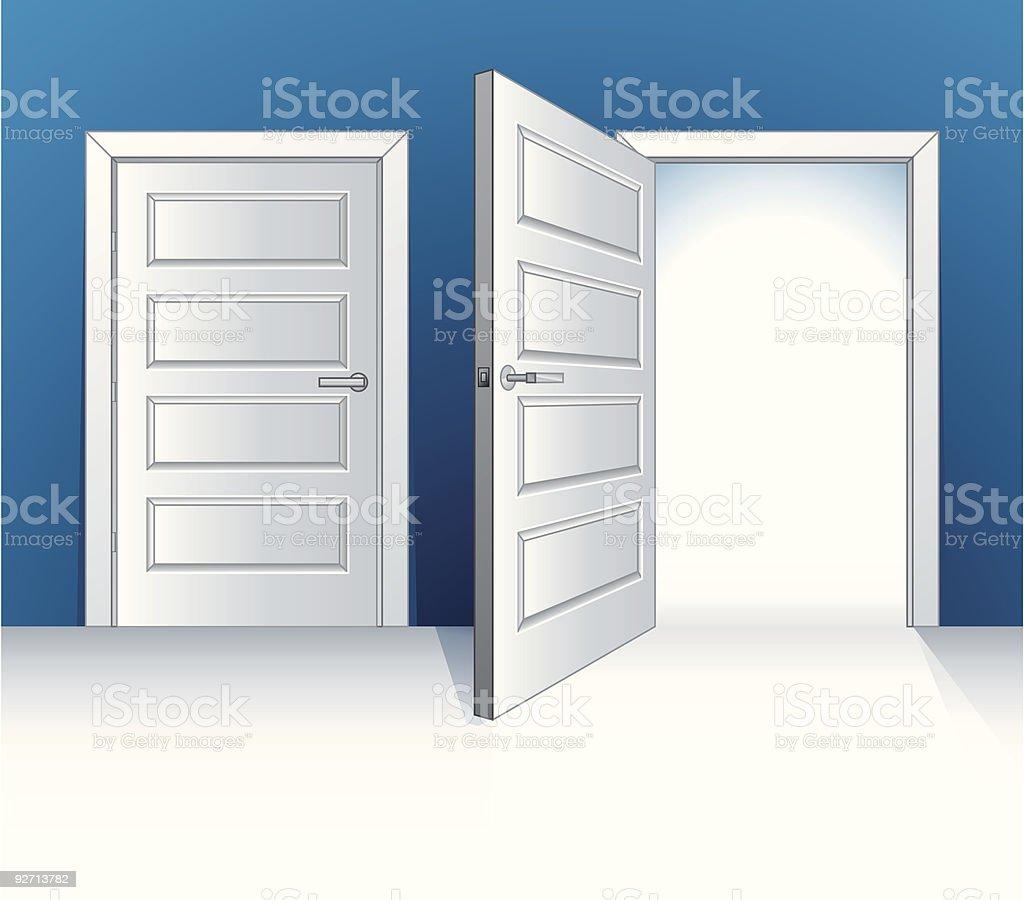 Doors (vector) vector art illustration