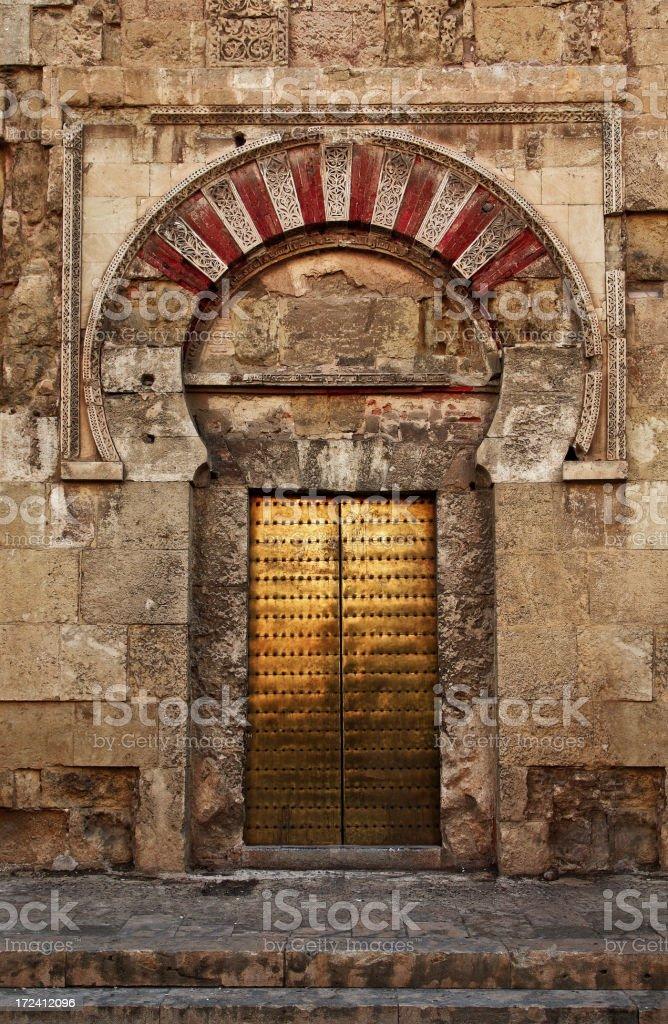 Doorway of Saint Stephen vector art illustration