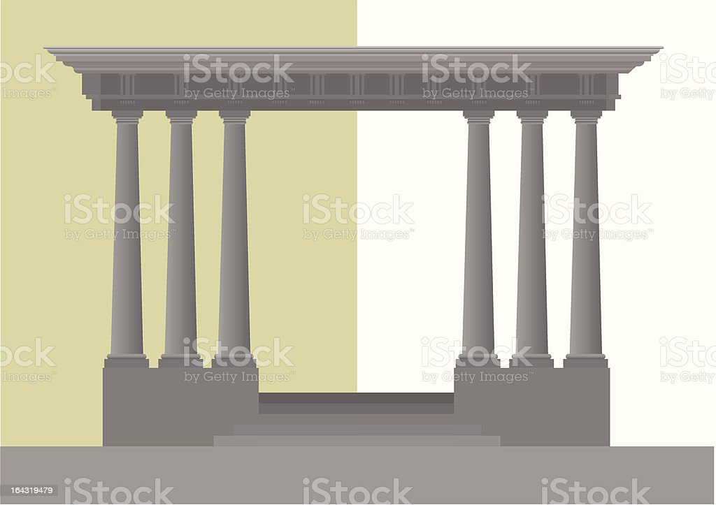 Doric Columns royalty-free stock vector art