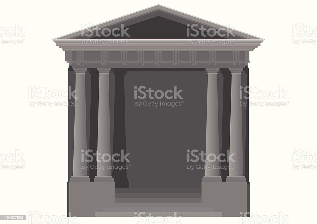 Doric Temple royalty-free stock vector art