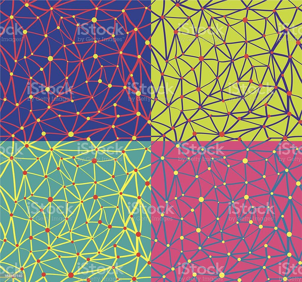 dot and line pattern vector art illustration