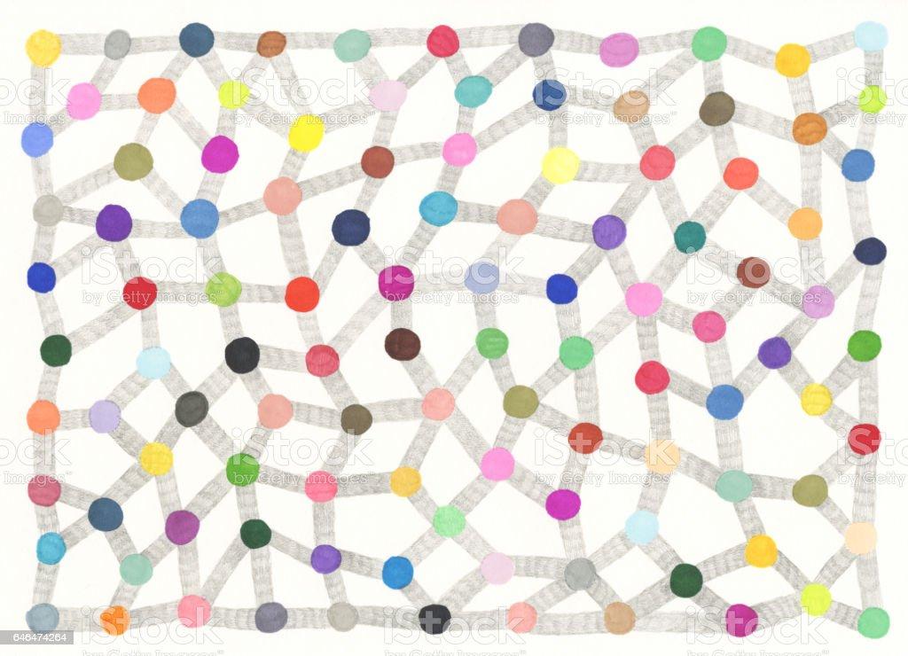 Dot to dot pattern vector art illustration