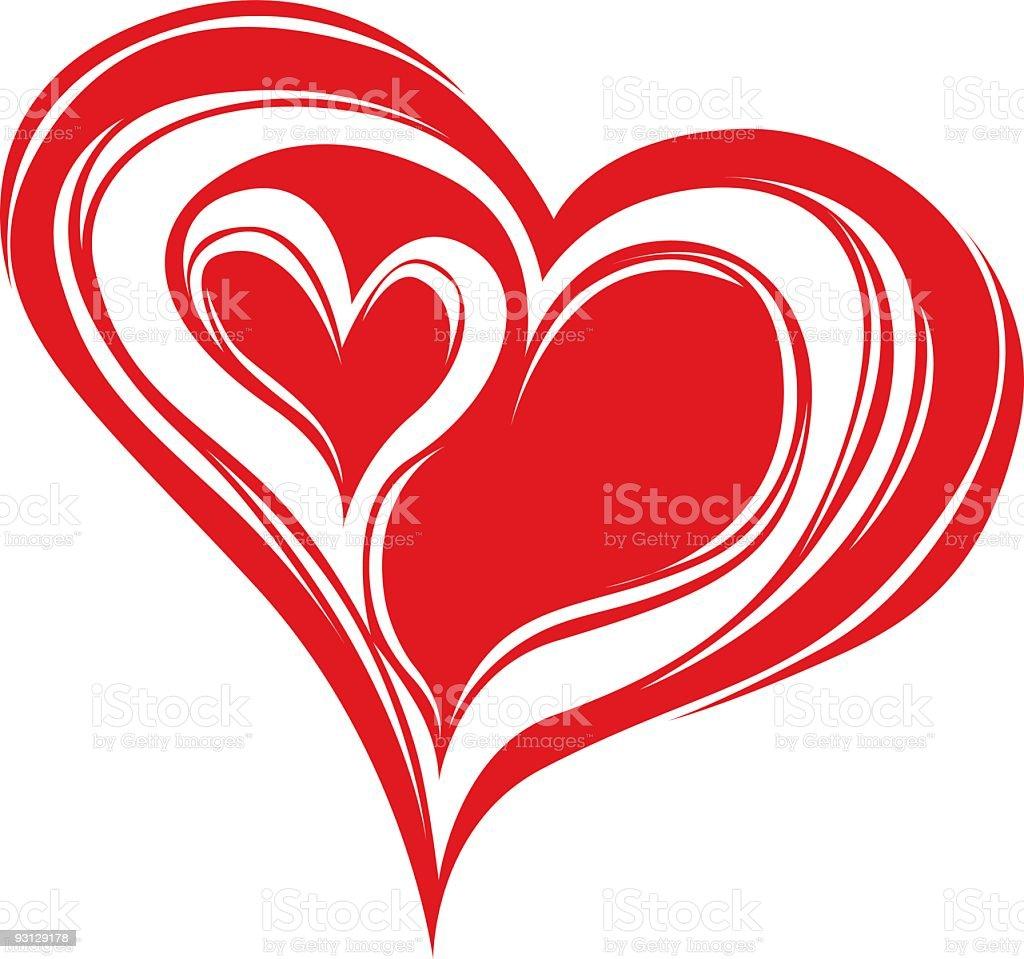 Double Heart royalty-free stock vector art