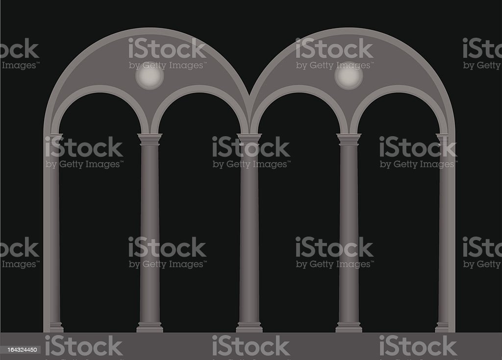 double lancet window vector art illustration