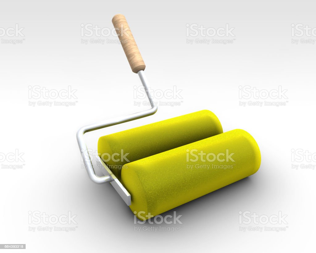 Double Paint Roller stock photo