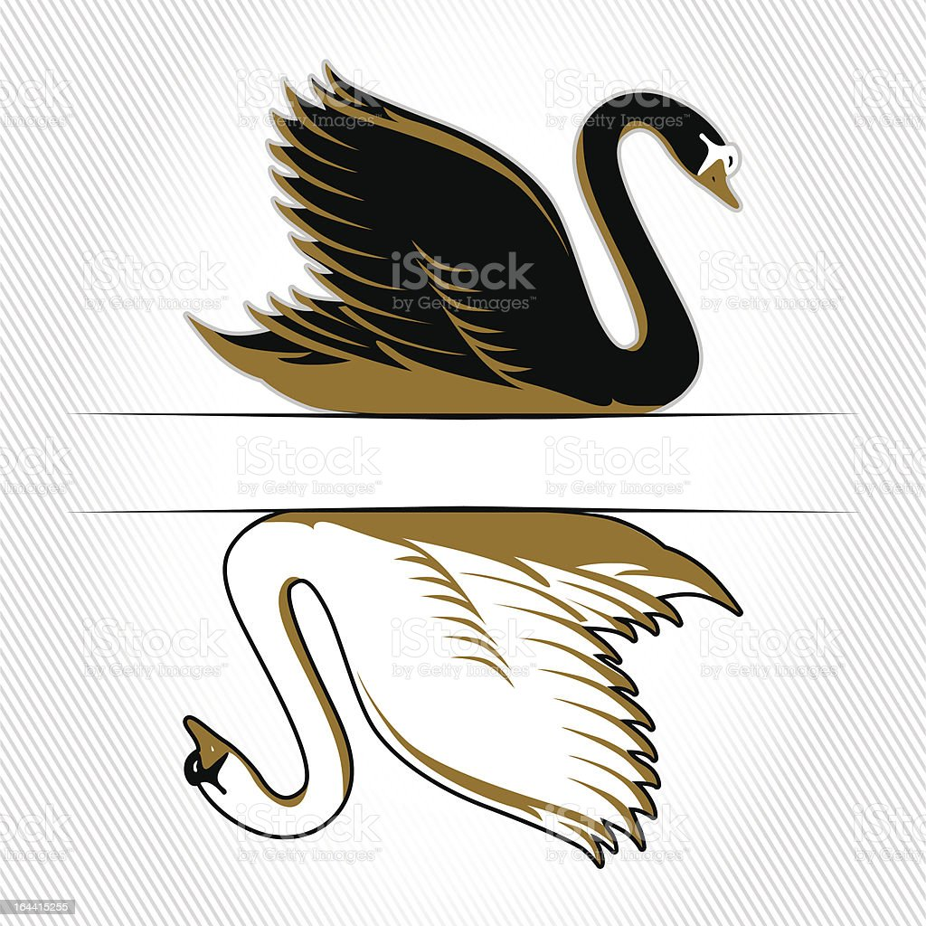 double swan royalty-free stock vector art