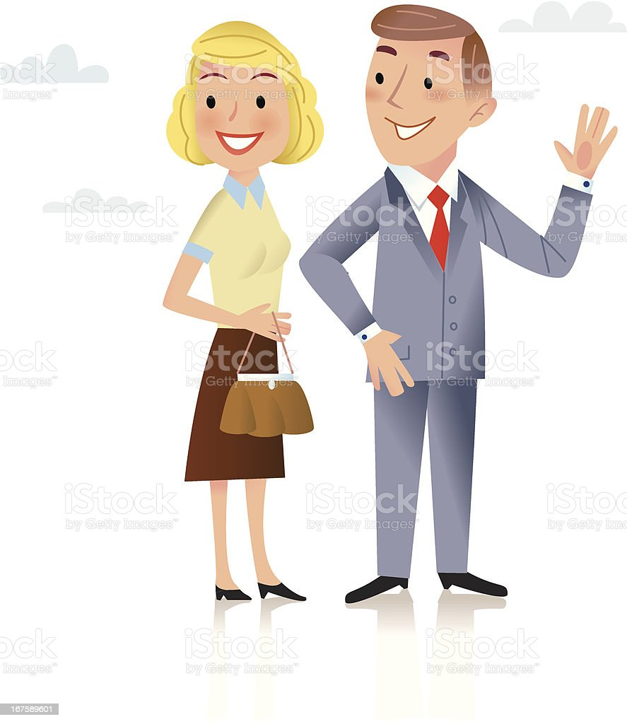 Double take! royalty-free stock vector art