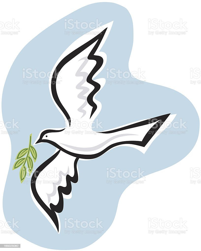 Dove with branch royalty-free stock vector art