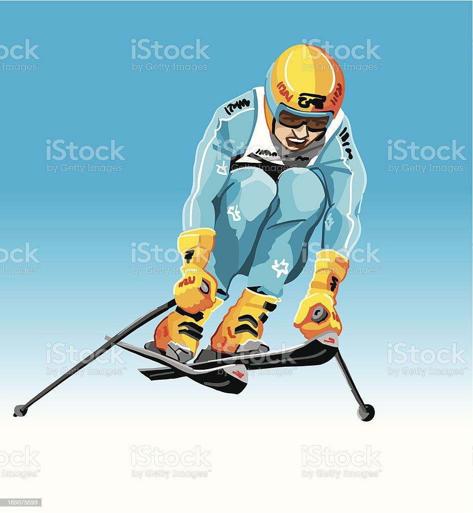 Downhiller Jump royalty-free stock vector art