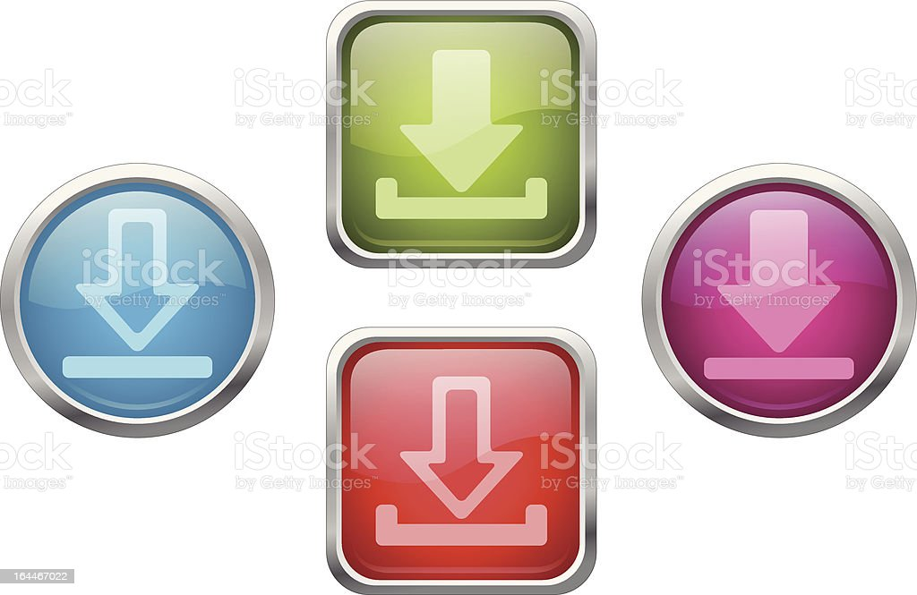 Download buttons royalty-free stock vector art