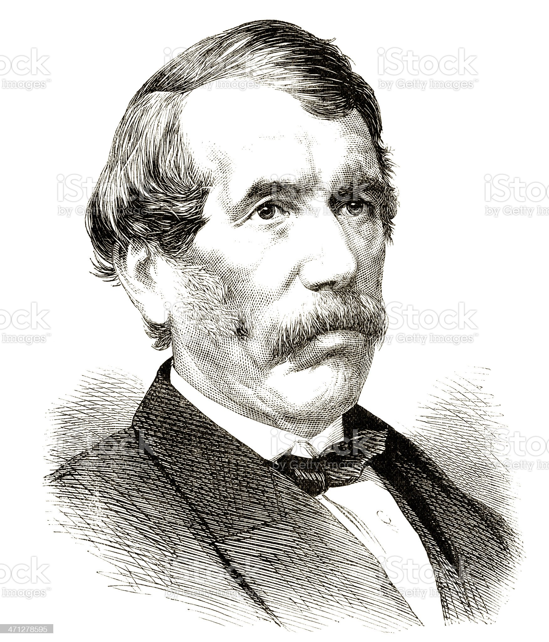 Dr David Livingstone royalty-free stock vector art