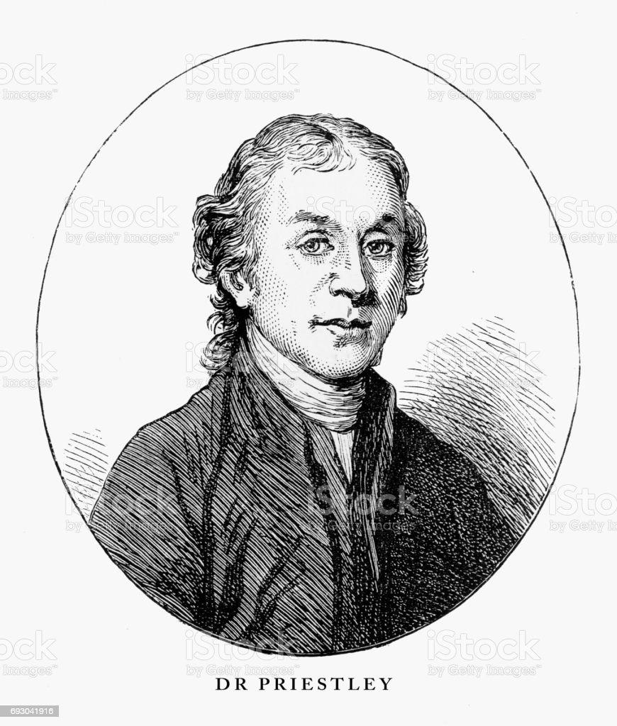 Dr. Priestley, Birmingham, Midlands, England Victorian Engraving, 1840 vector art illustration