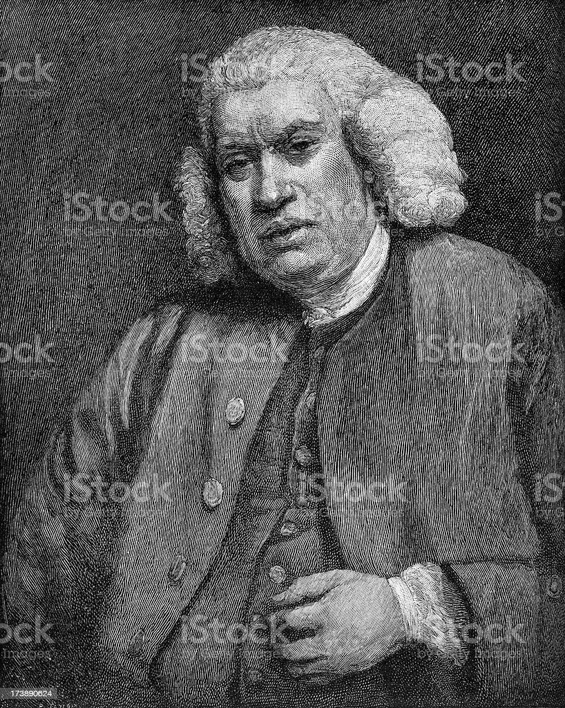 Dr Samuel Johnson royalty-free stock vector art