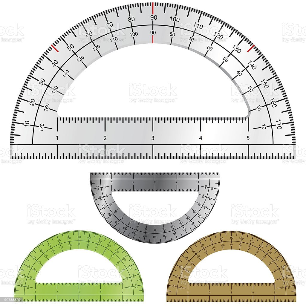 Drafting protractor royalty-free stock vector art