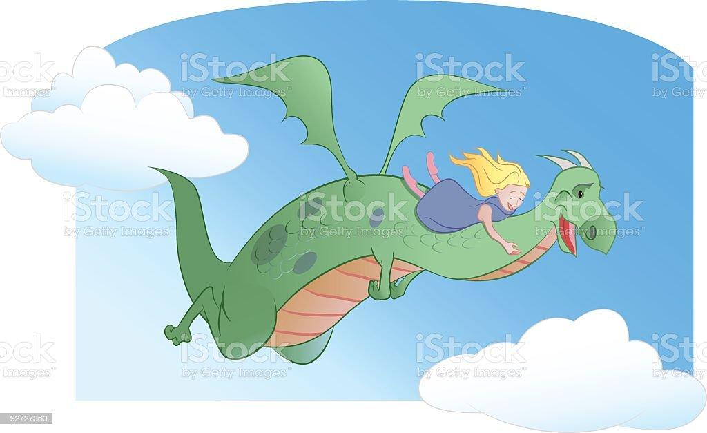 Dragon Fly royalty-free stock vector art