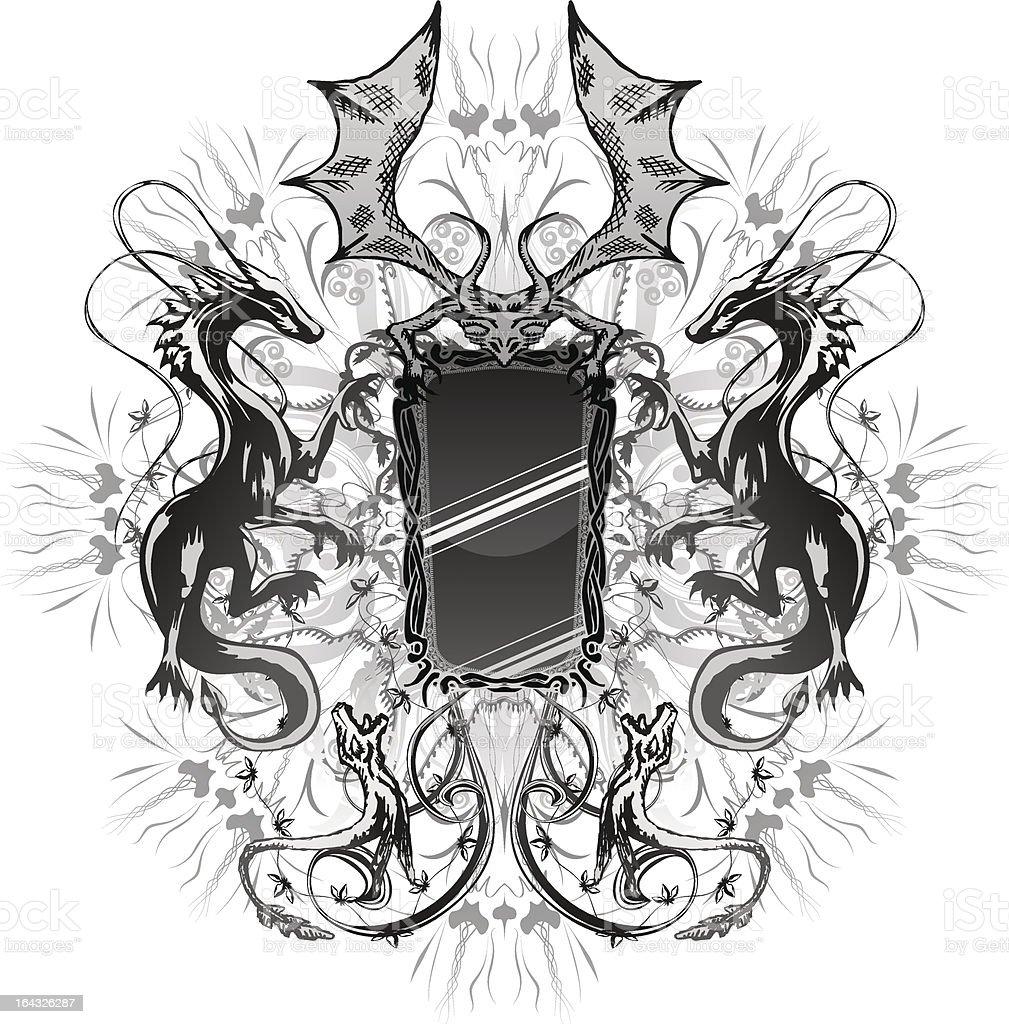 Dragon Mirror royalty-free stock vector art