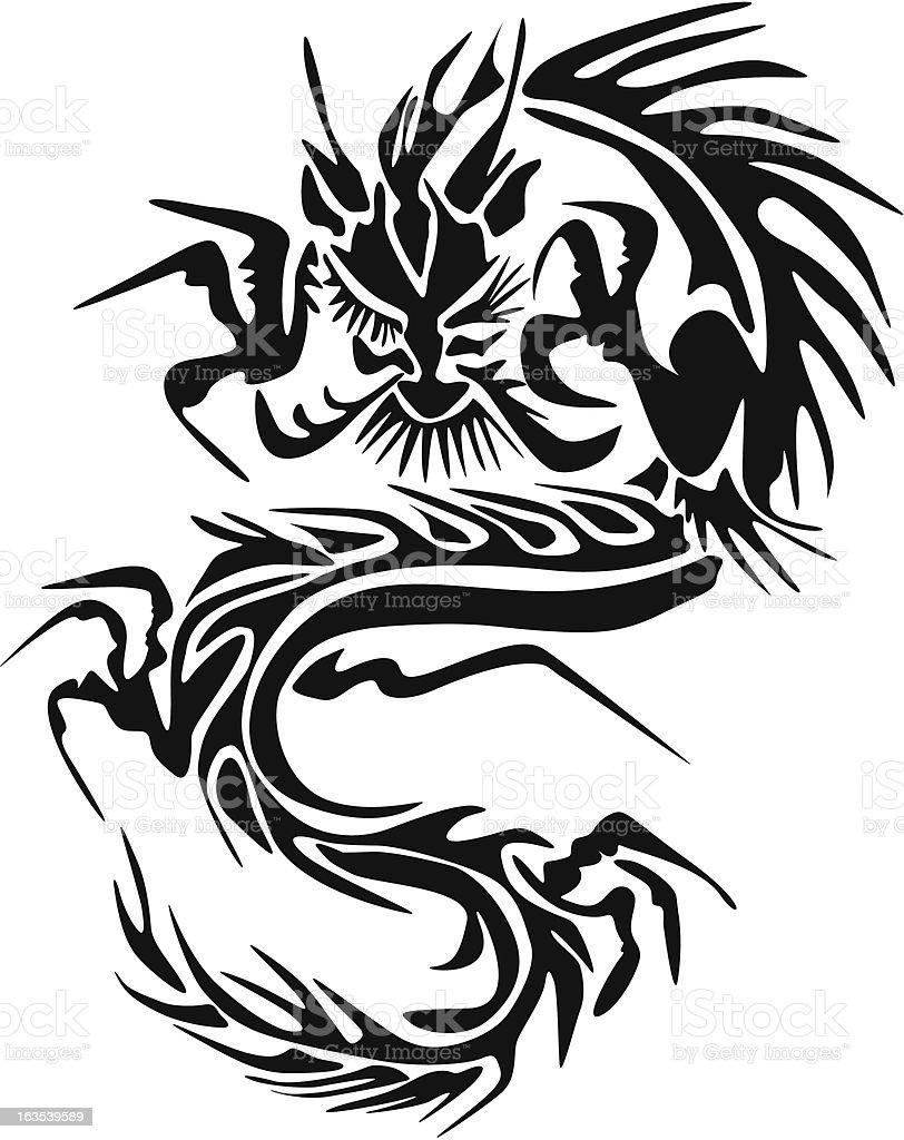 Dragon Tattoo royalty-free stock vector art