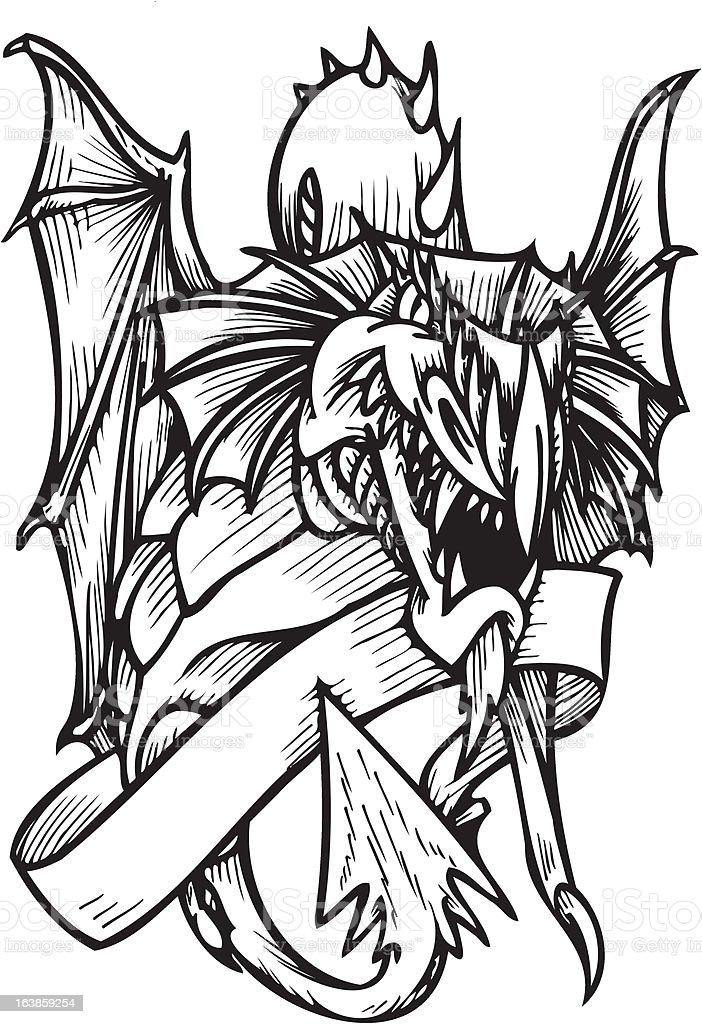 Dragon Template. royalty-free stock vector art