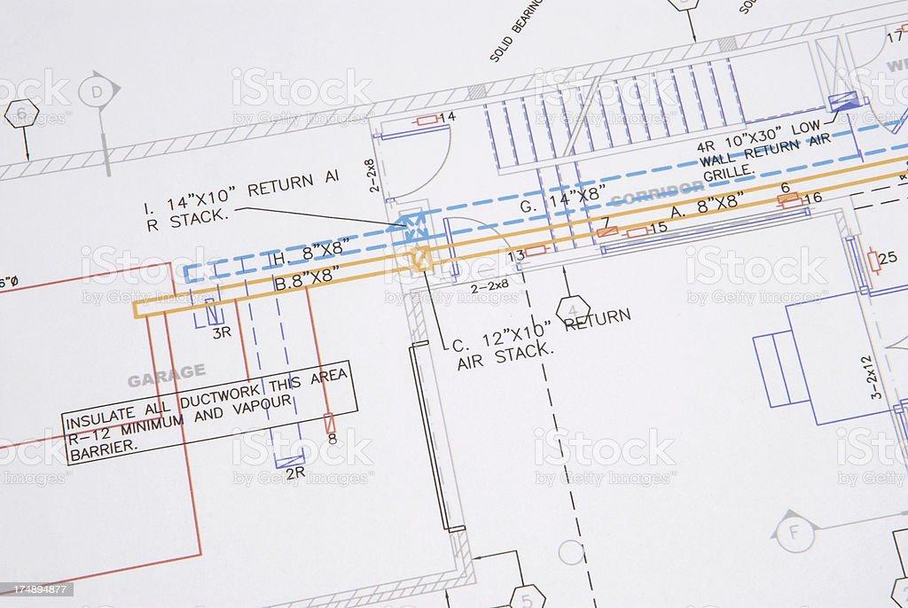 HVAC drawing 1 royalty-free stock vector art