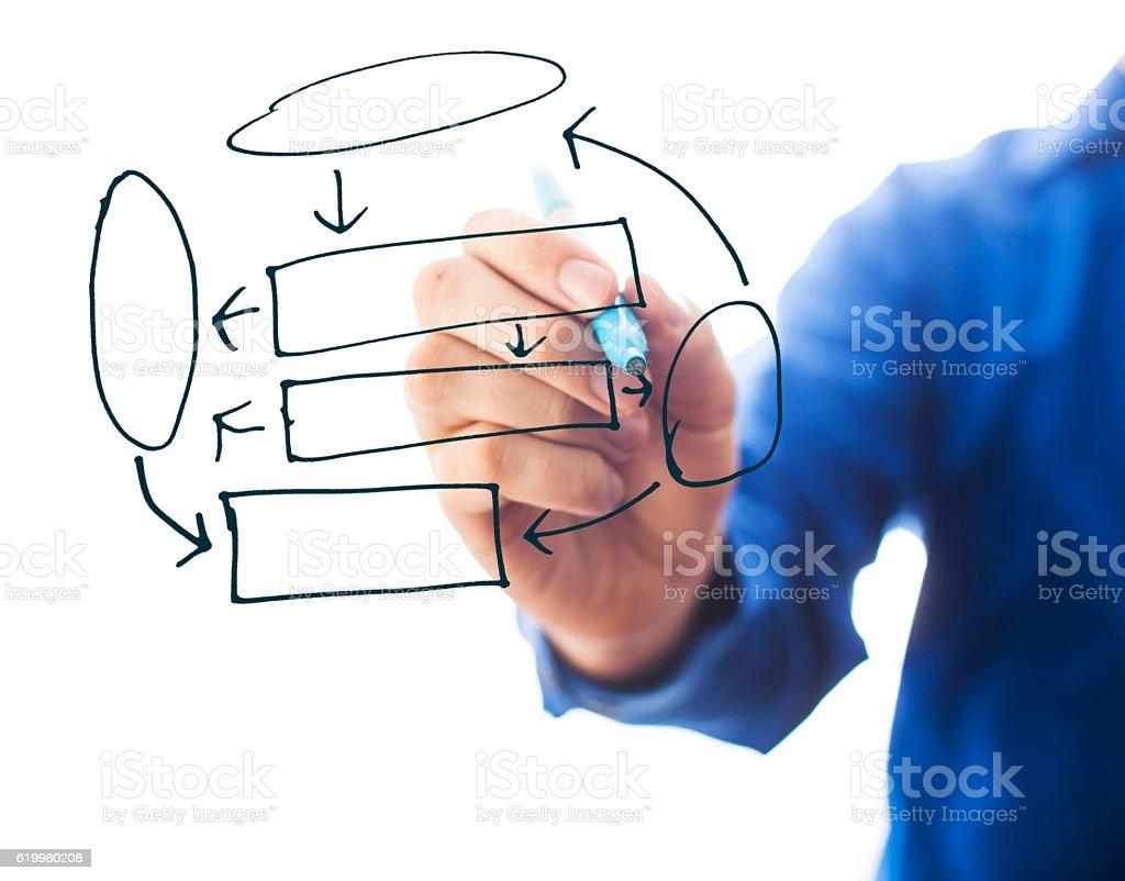 Drawing a Diagram vector art illustration