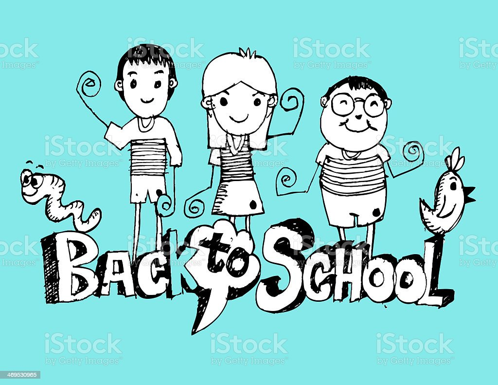 drawing Back to School royalty-free stock vector art