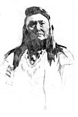Drawing of a Native American Indian