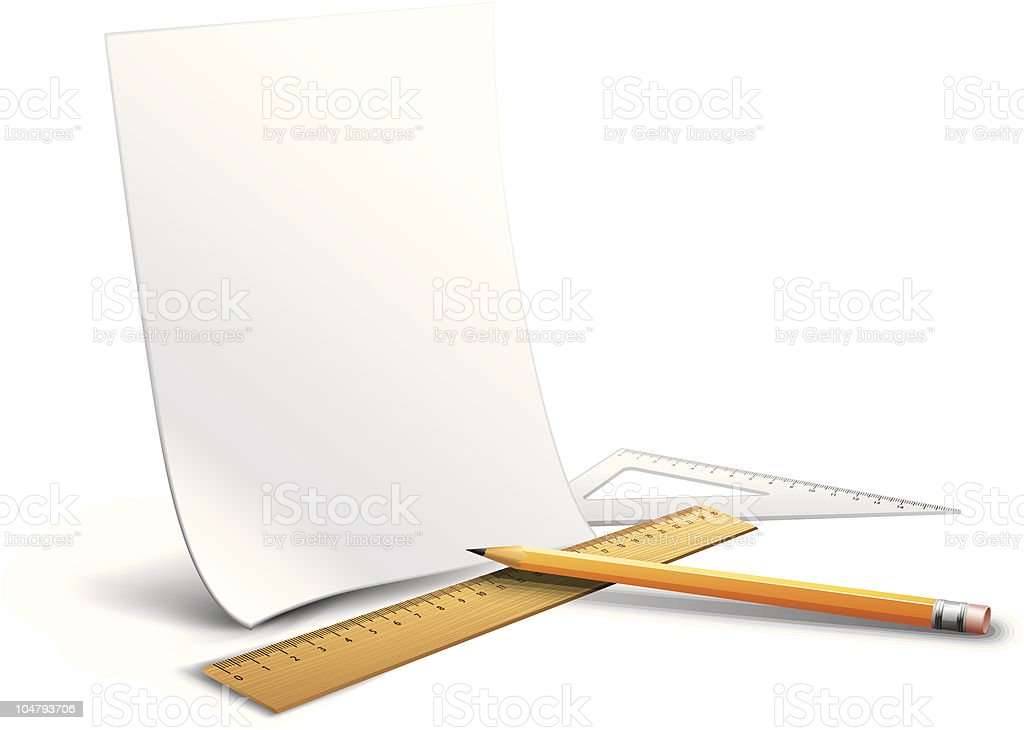 Drawing tools royalty-free stock vector art