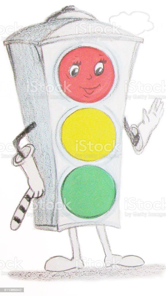 Disegno semaforo illustrazione royalty-free