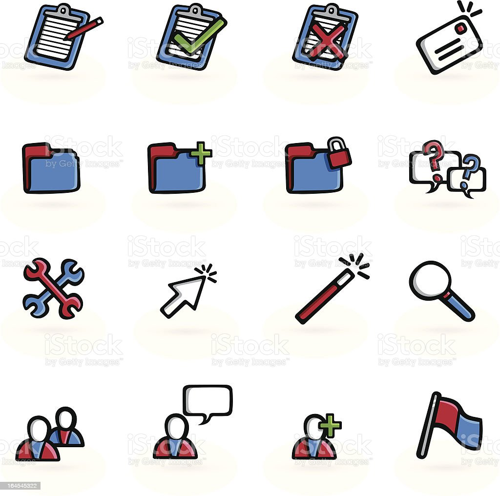 Drawn Business Web Icons royalty-free stock vector art