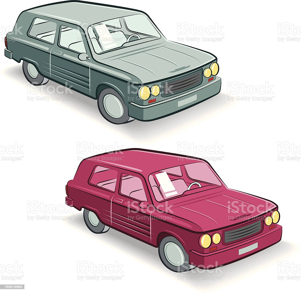 dream car with two colors vector art illustration