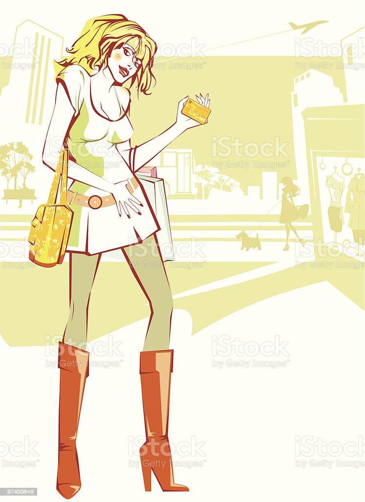 Dream Card vector art illustration