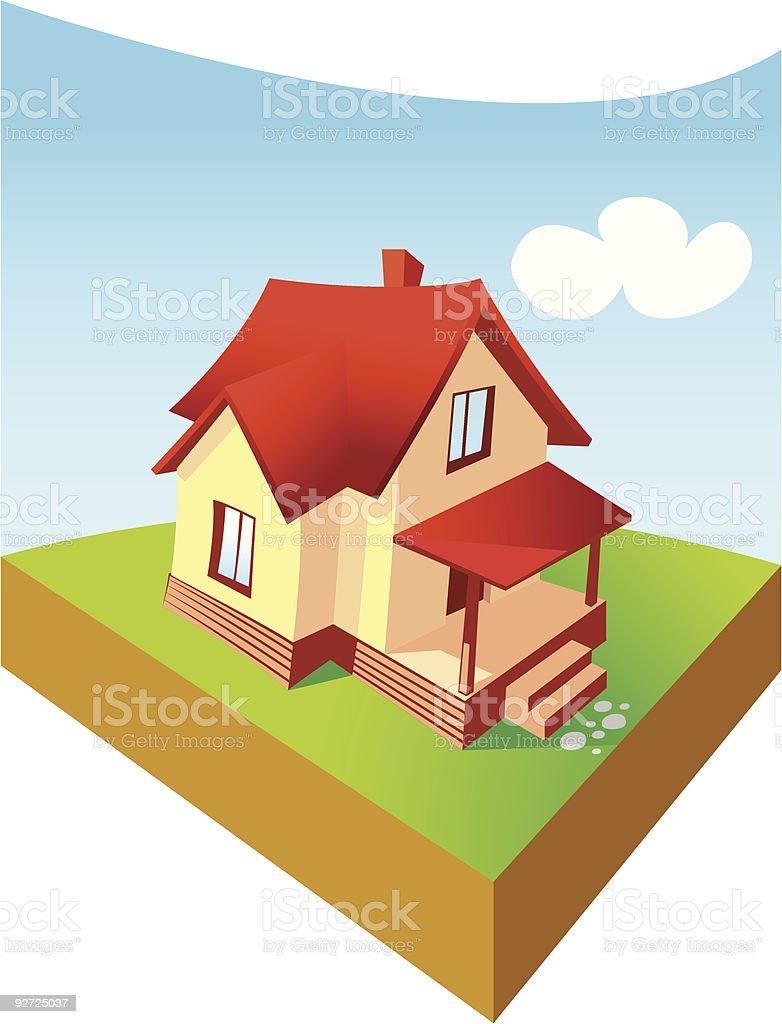 Dream home royalty-free stock vector art