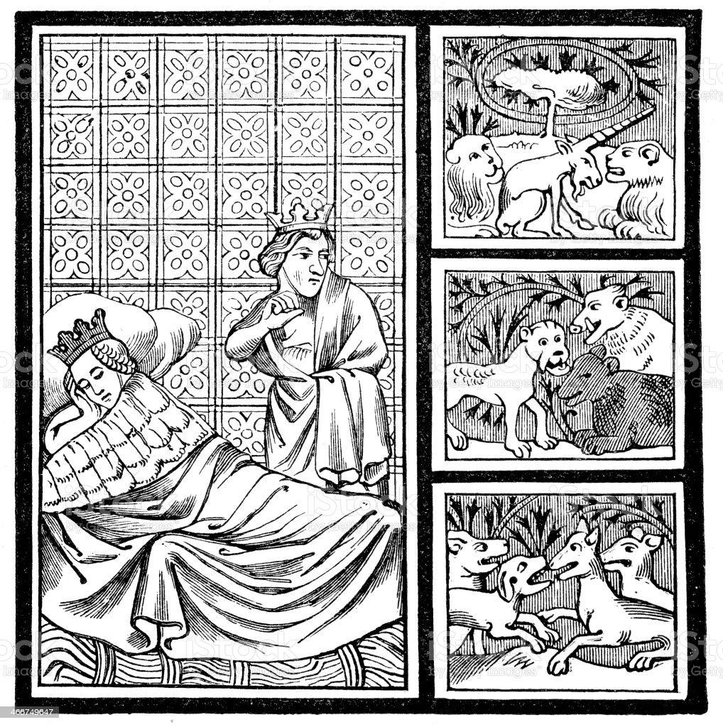 Dream of Childeric royalty-free stock vector art