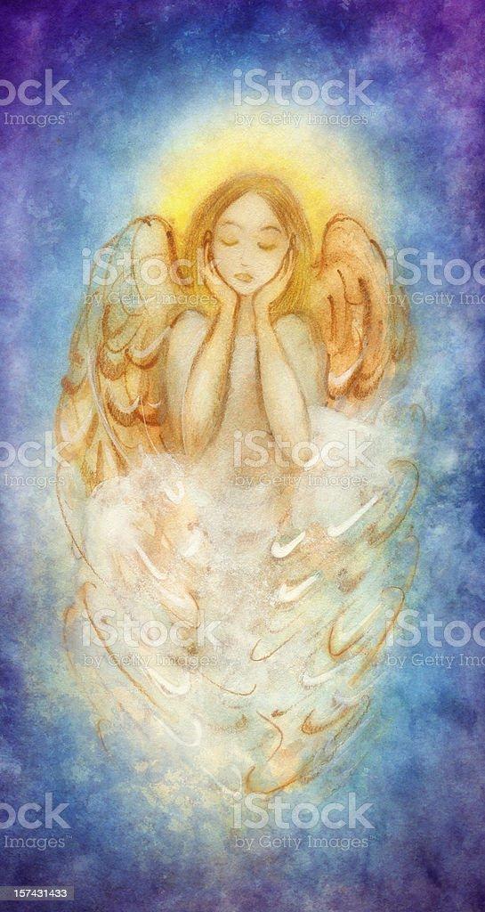 dreaming angel royalty-free stock vector art