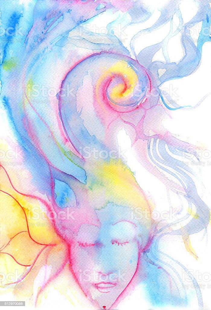 dreaming vector art illustration