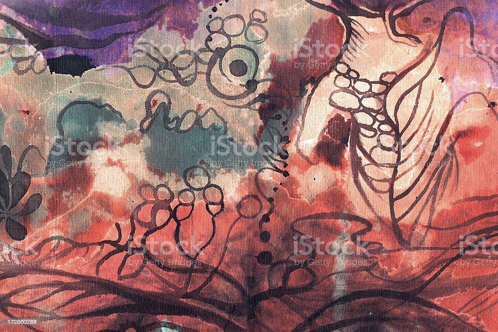 Träumen in Rot Lizenzfreies vektor illustration