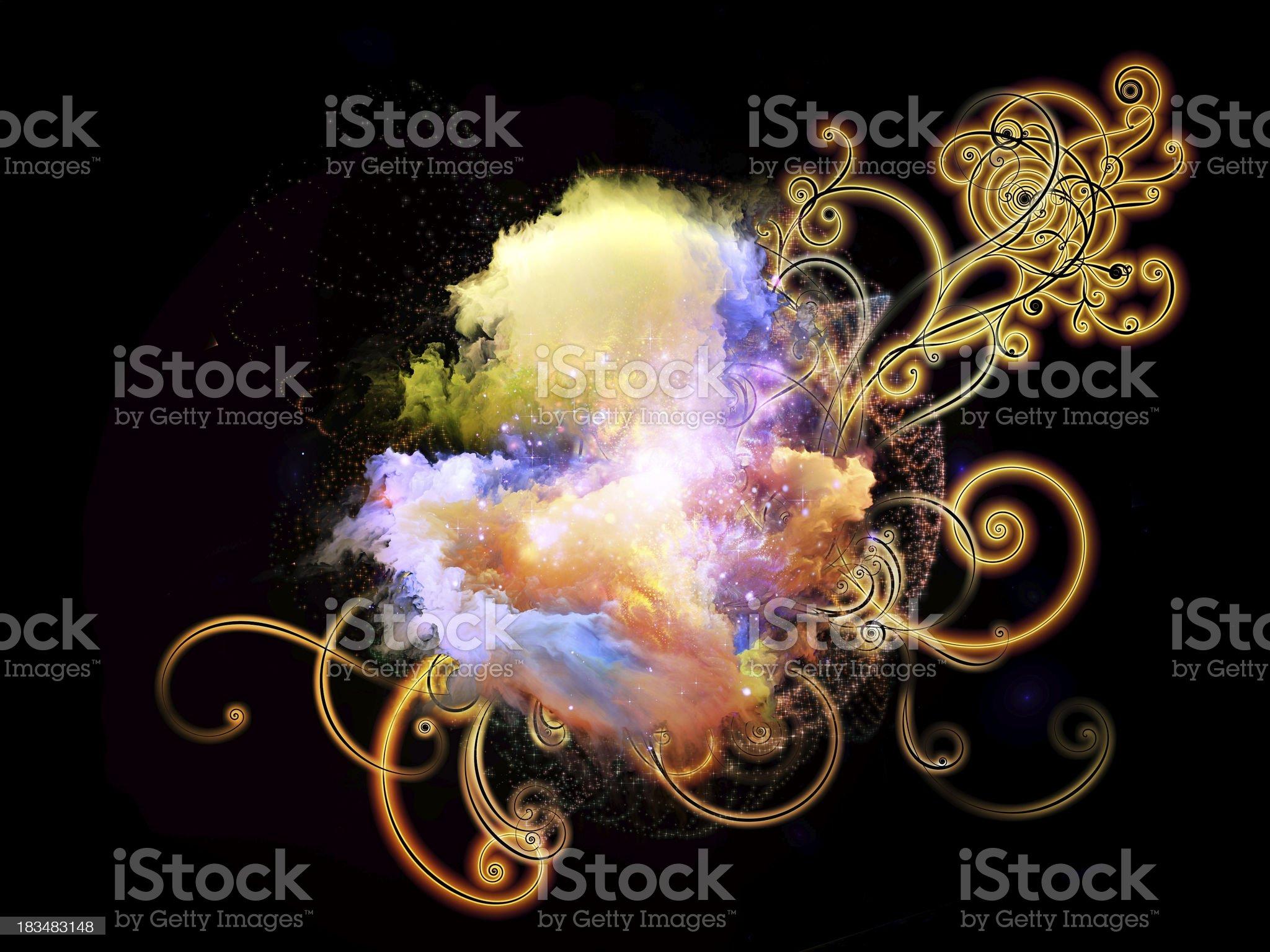 Dreaming of Design Nebulae royalty-free stock vector art