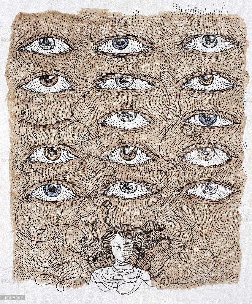 dreamland eyes royalty-free stock vector art