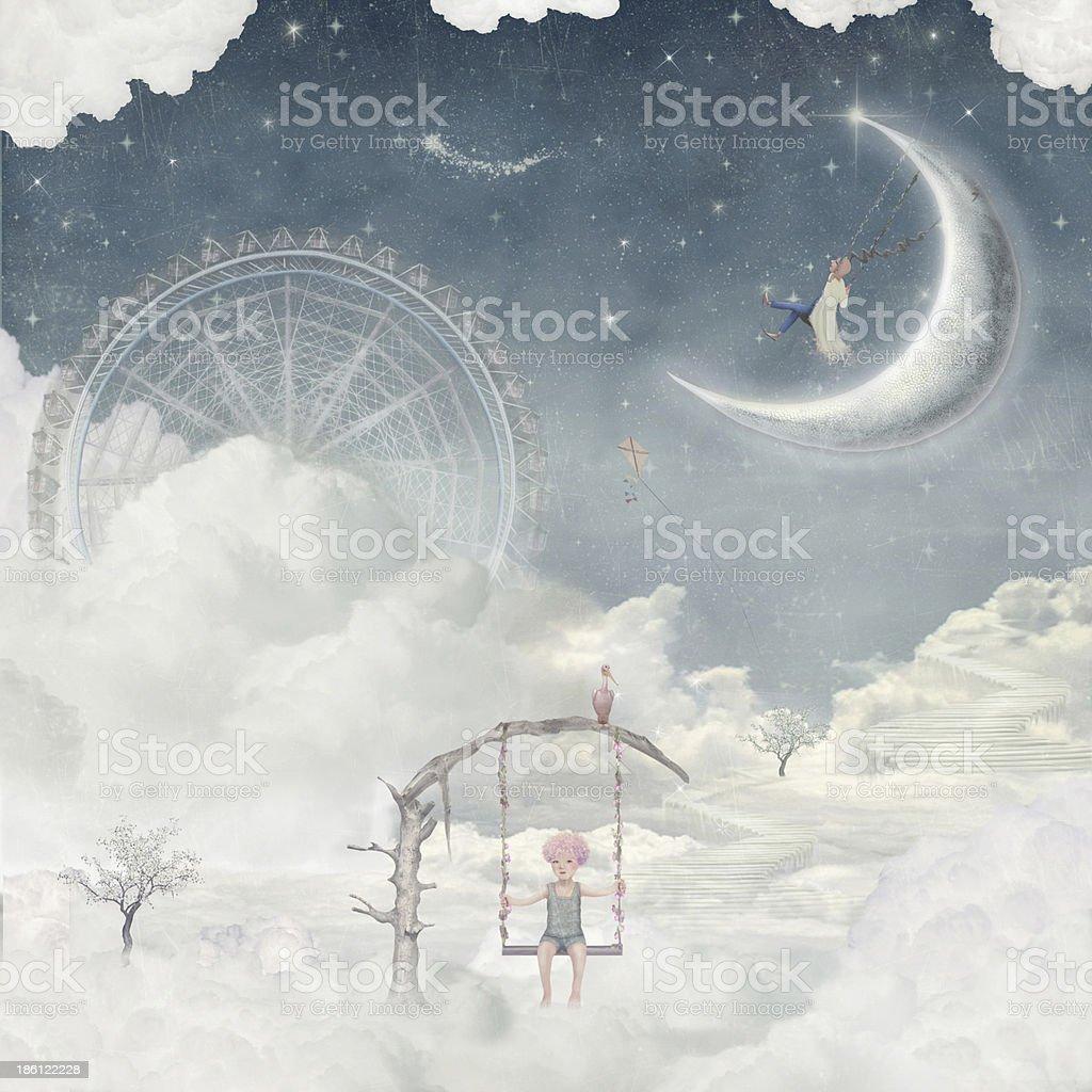 Dreamland vector art illustration