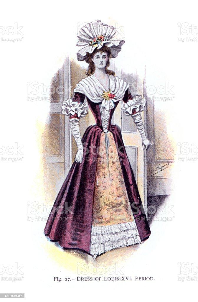 Dress of Louis XVI Period royalty-free stock vector art