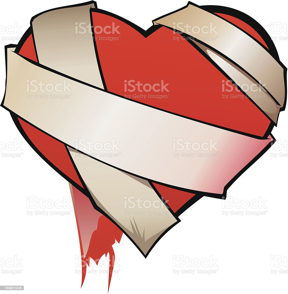 dressing heart royalty-free stock vector art