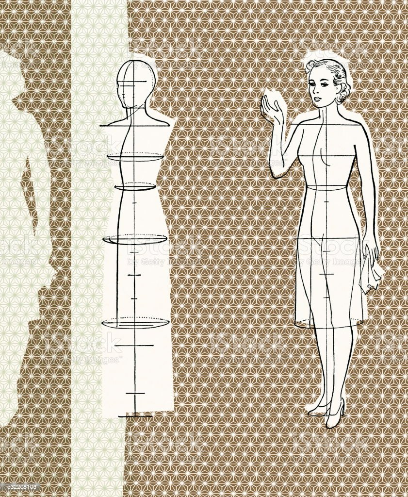 Dressmaking form vector art illustration