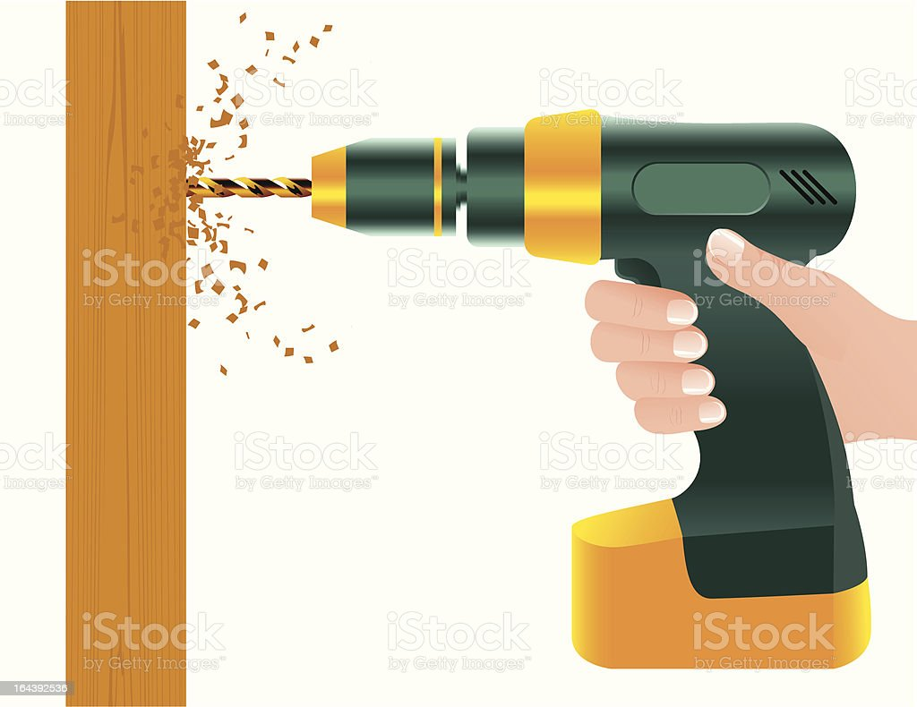 Drill royalty-free stock vector art