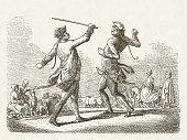Drill Scene under Frederick William I (1688-1740), published in 1881