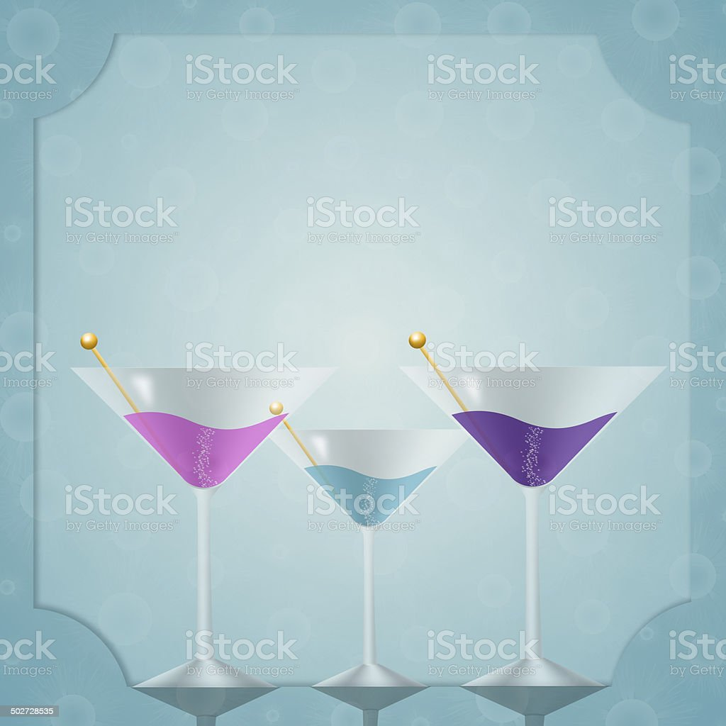 Drink for party vector art illustration