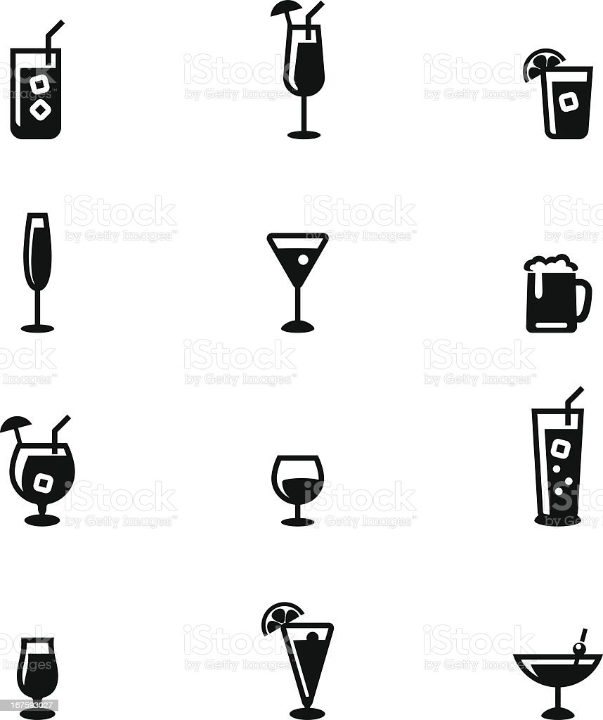 Drink Icon Set vector art illustration