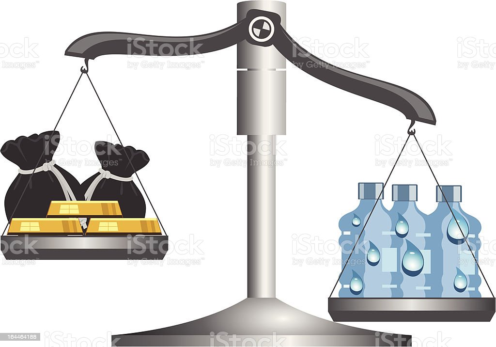 Drinking water is still scarce royalty-free stock vector art