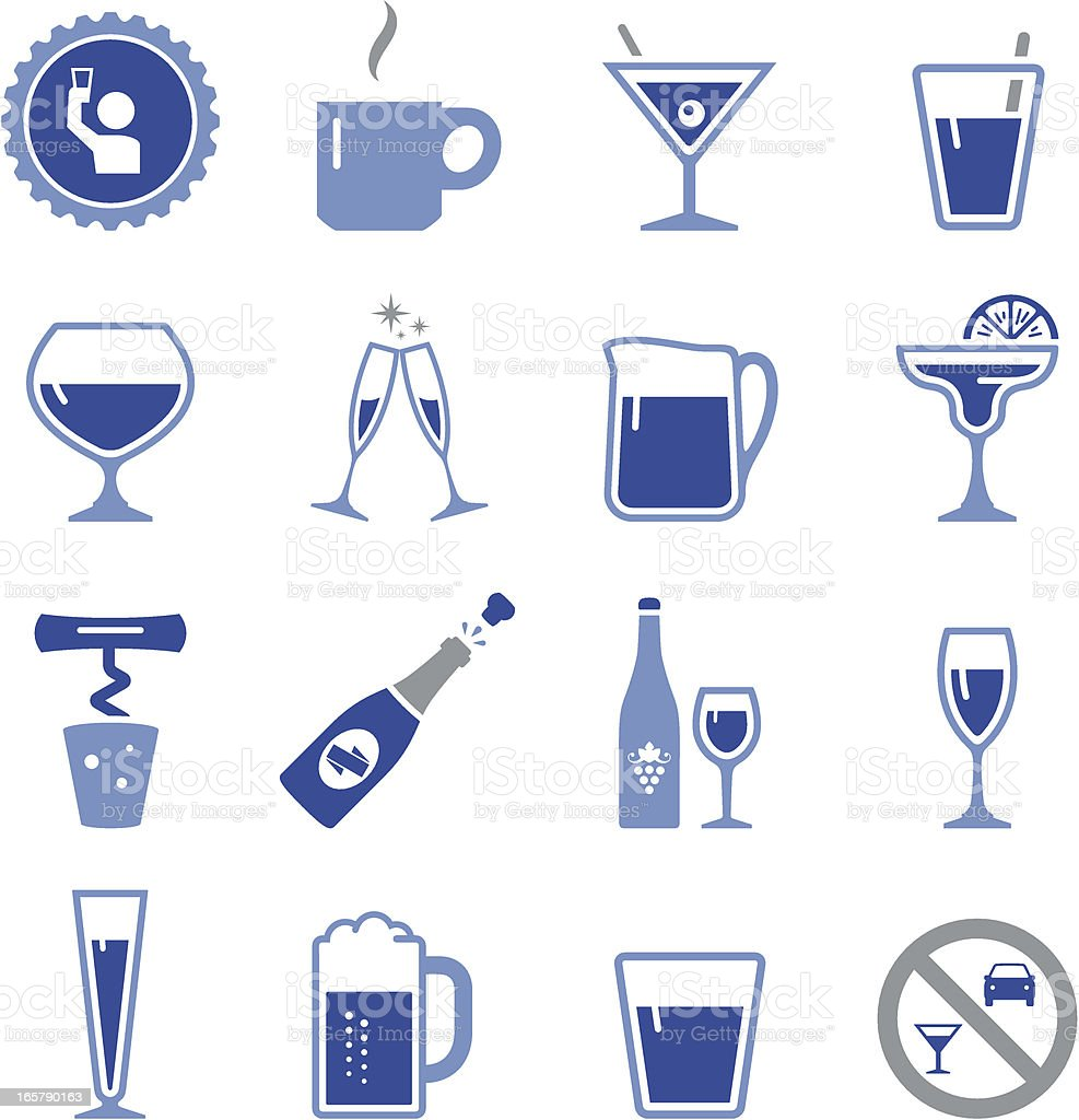 Drinks and Cocktail Icons - Pro Series vector art illustration