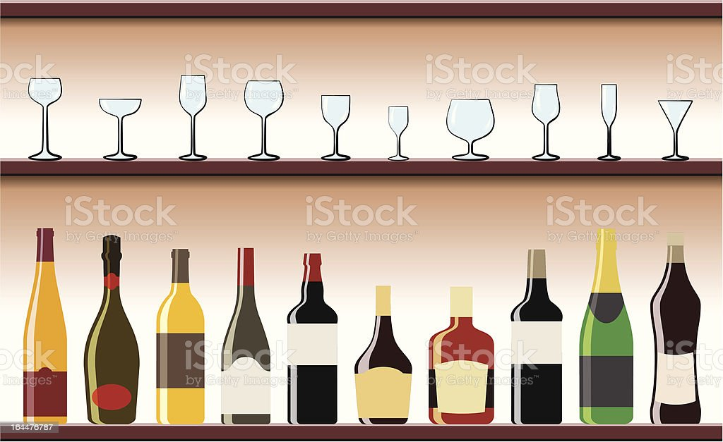 Drinks Set vector art illustration